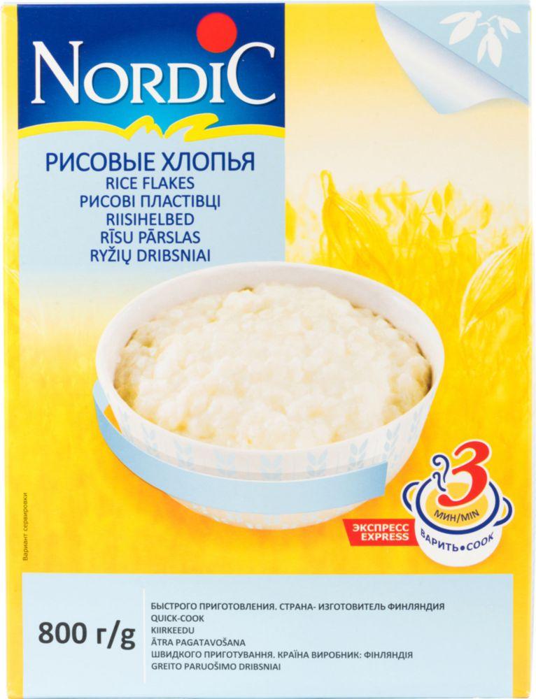 Хлопья рисовые Nordic  800 г
