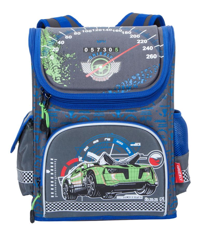 Рюкзак детский Grizzly RA-780-1 школьный серый