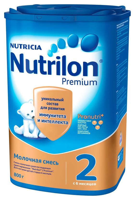 Молочная смесь 2 (от 6 до 12 мес.) Nutrilon Premium 800 г