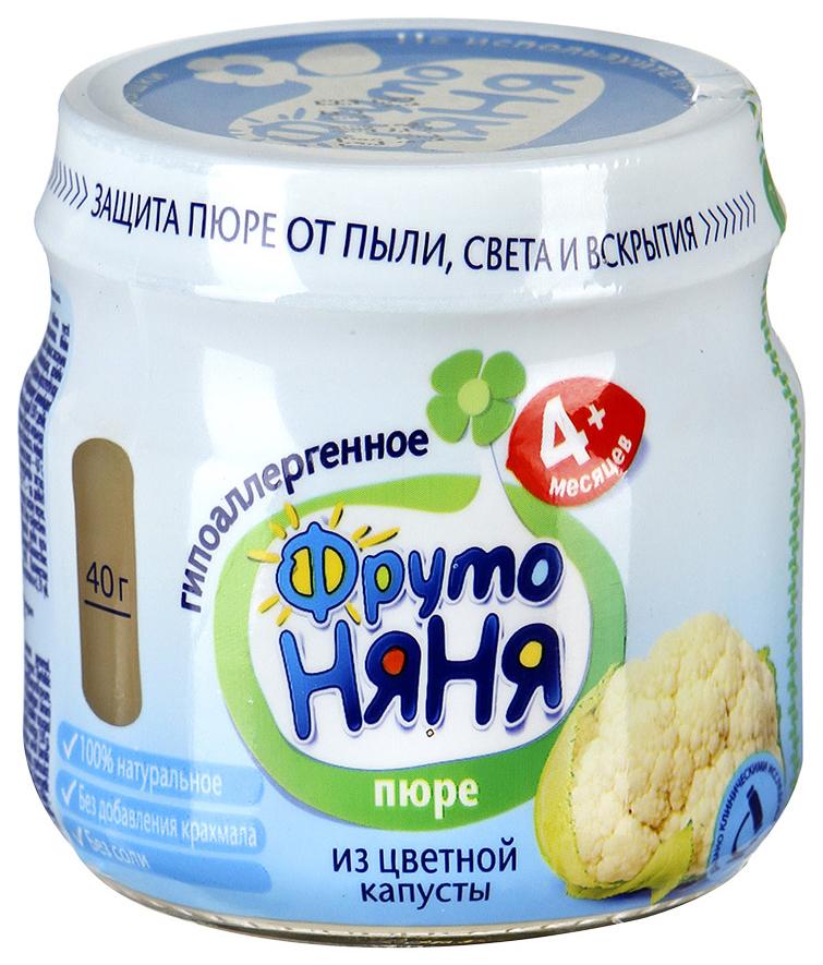 Купить Из цветной капусты 80 г, Пюре овощное ФрутоНяня Из цветной капусты с 4 месяцев 80 гр, Овощное пюре