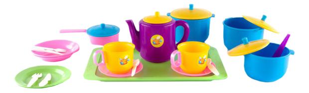 Набор посуды игрушечный Плэйдорадо Обед.