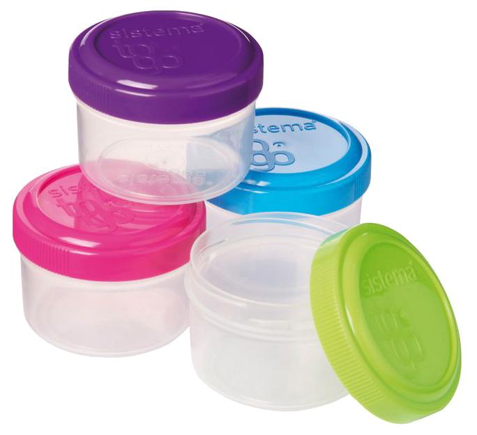 Соусник Sistema To Go21470 Зеленый, розовый, фиолетовый,