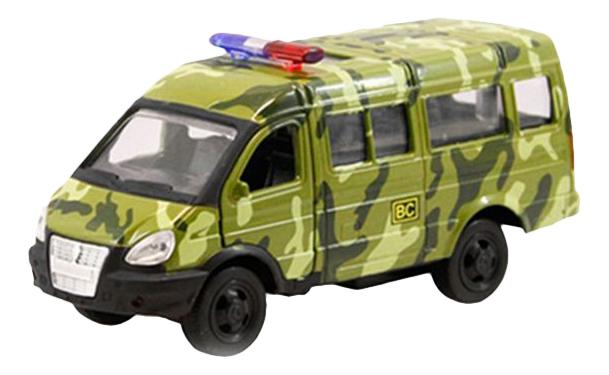 Купить Автопарк - Военная газель, Микроавтобус инерционный Автопарк Военная Газель 1:50 Play Smart А74792, PLAYSMART, Военный транспорт