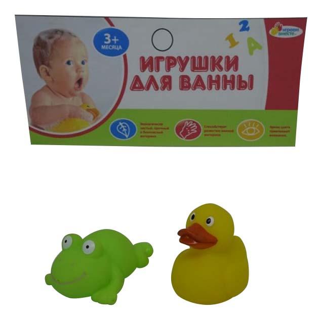Игрушки для ванной набор Лягушка и утка Играем вместе LXB18_184 фото