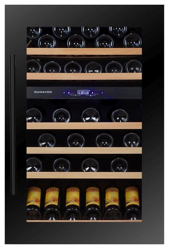 Встраиваемый винный шкаф Dunavox DX 57.146DBK