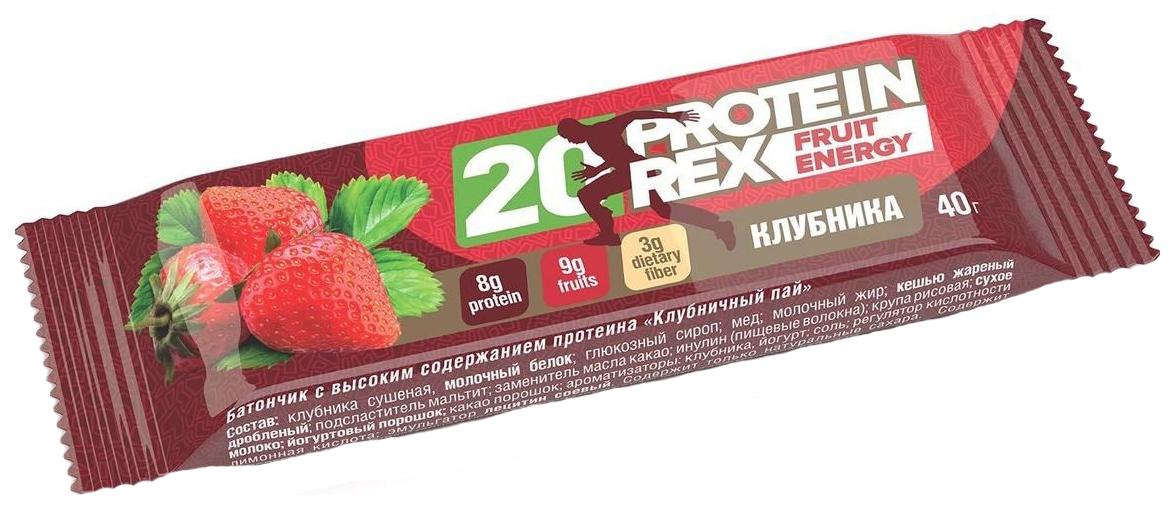 Протеиновый батончик ProteinRex 40 г Клубничный Пай