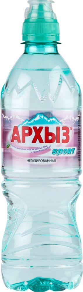Вода минеральная Архыз sport негазированная пластик 0.5 л