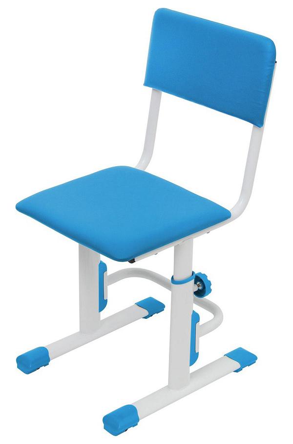 Детский стул для школьника регулируемый Polini Kids City/Polini Kids Smart L, Белый/Синий