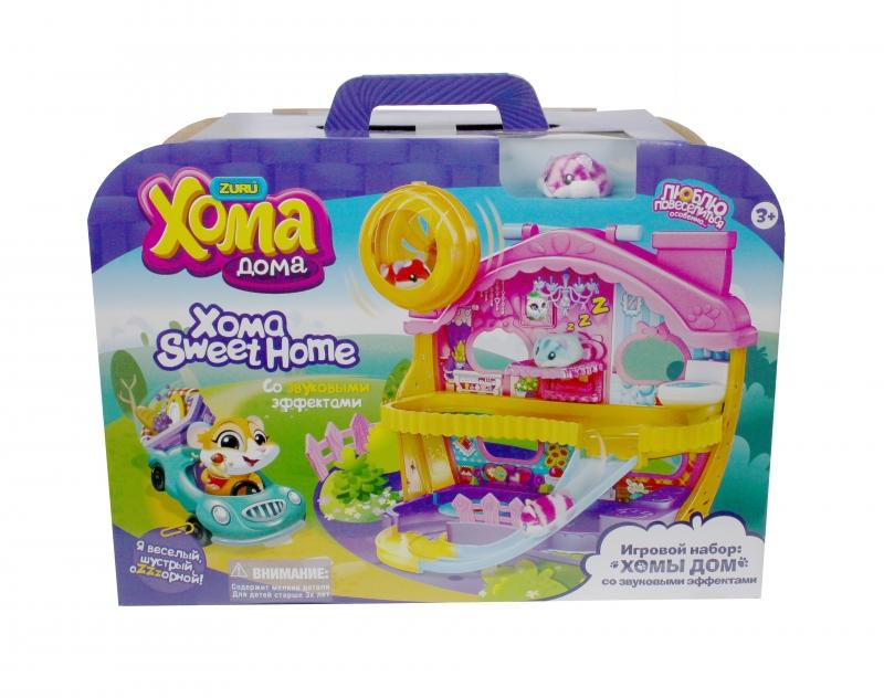 Купить Интерактивная игрушка 1 TOY Хома Дома Хомы Дом со звуковыми эффектами Т12343, Интерактивные мягкие игрушки