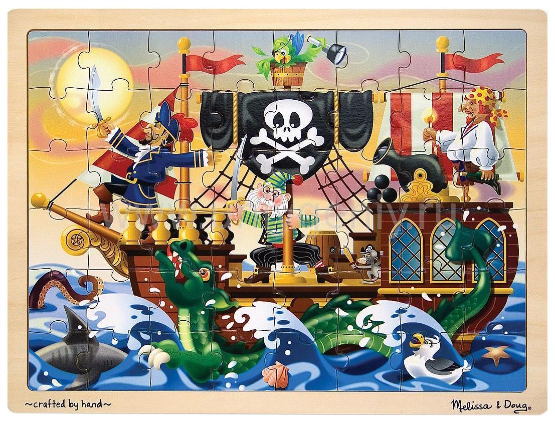 Купить Пазл Melissa and Doug Мои первые пазлы Приключение пиратов 48 элементов, Melissa & Doug, Пазлы
