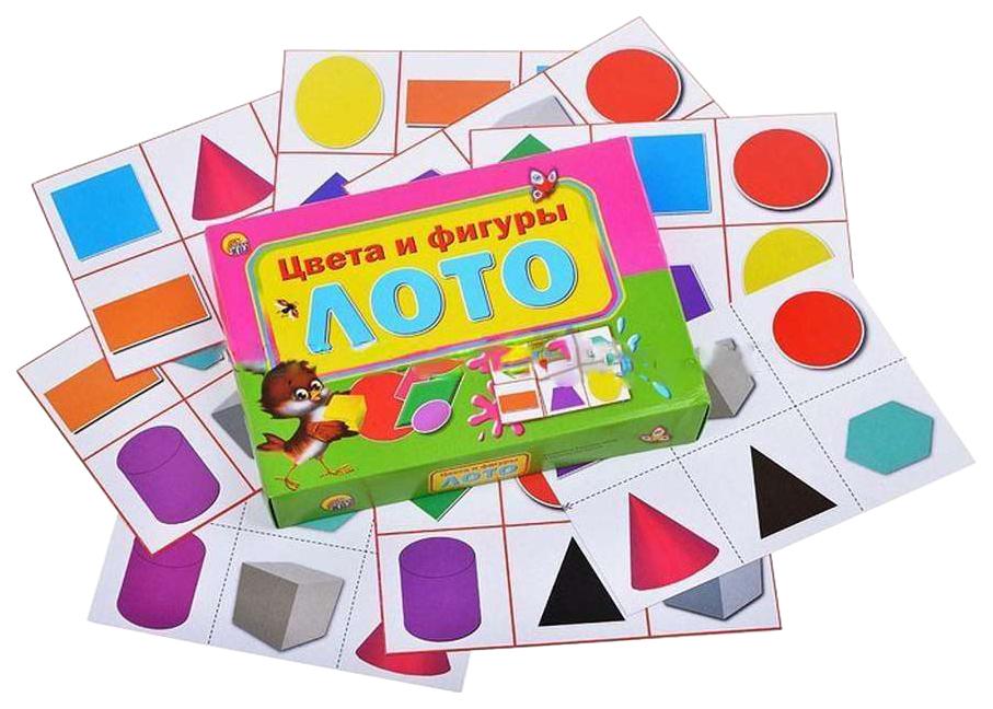Купить Игра настольная Рыжий кот Лото Цвета И Фигуры, Семейные настольные игры