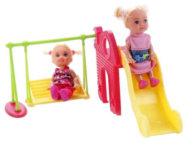 Купить Кукла Defa Lucy 8329 Набор из 2 кукол дефа люси с качелями и горкой, Классические куклы