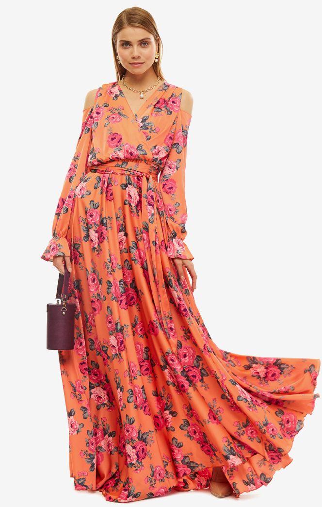 Платье женское ALISIA HIT оранжевое