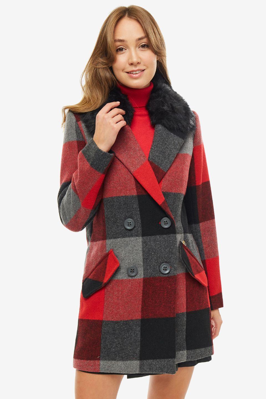Пальто женское Gaudi красное