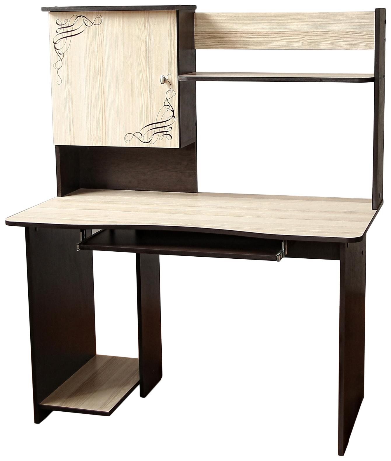 Компьютерный стол Бител СК-6 BTL_SK-6 120x63x144, бежевый/коричневый