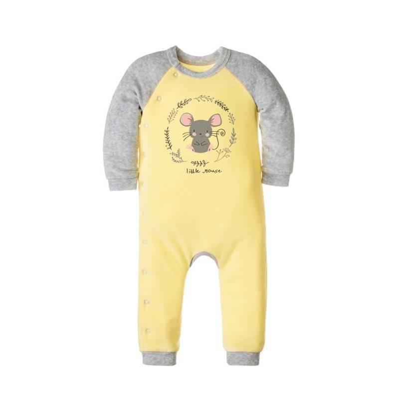 Купить Комбинезон Goldy, цв. желтый, 74 р-р, Трикотажные комбинезоны для новорожденных