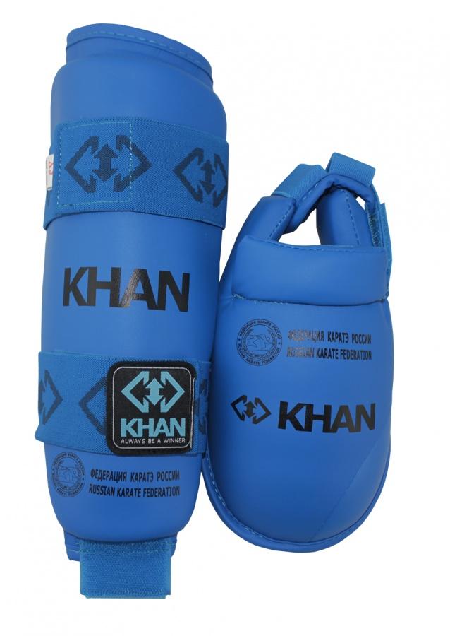 Защита голени и стопы Khan ФКР синяя