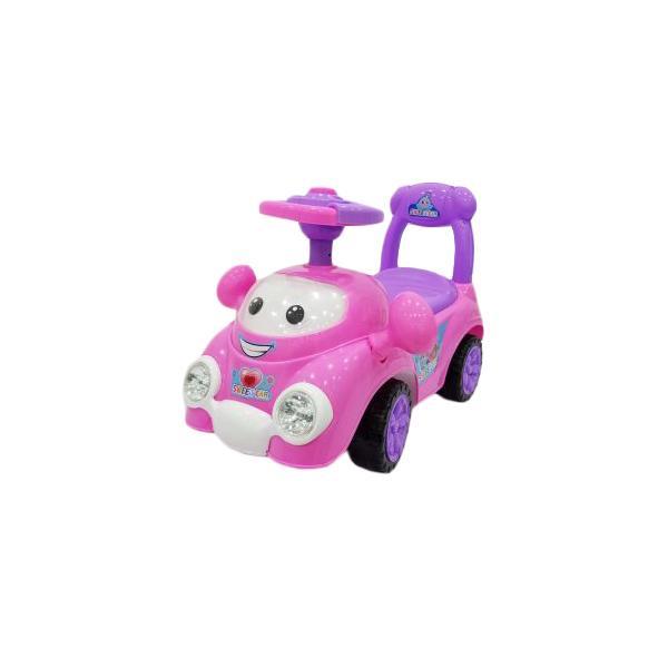 Машина-каталка Малышка розов., гудок, свет, звук, эл.пит. АА*2 не вх.в компл., кор