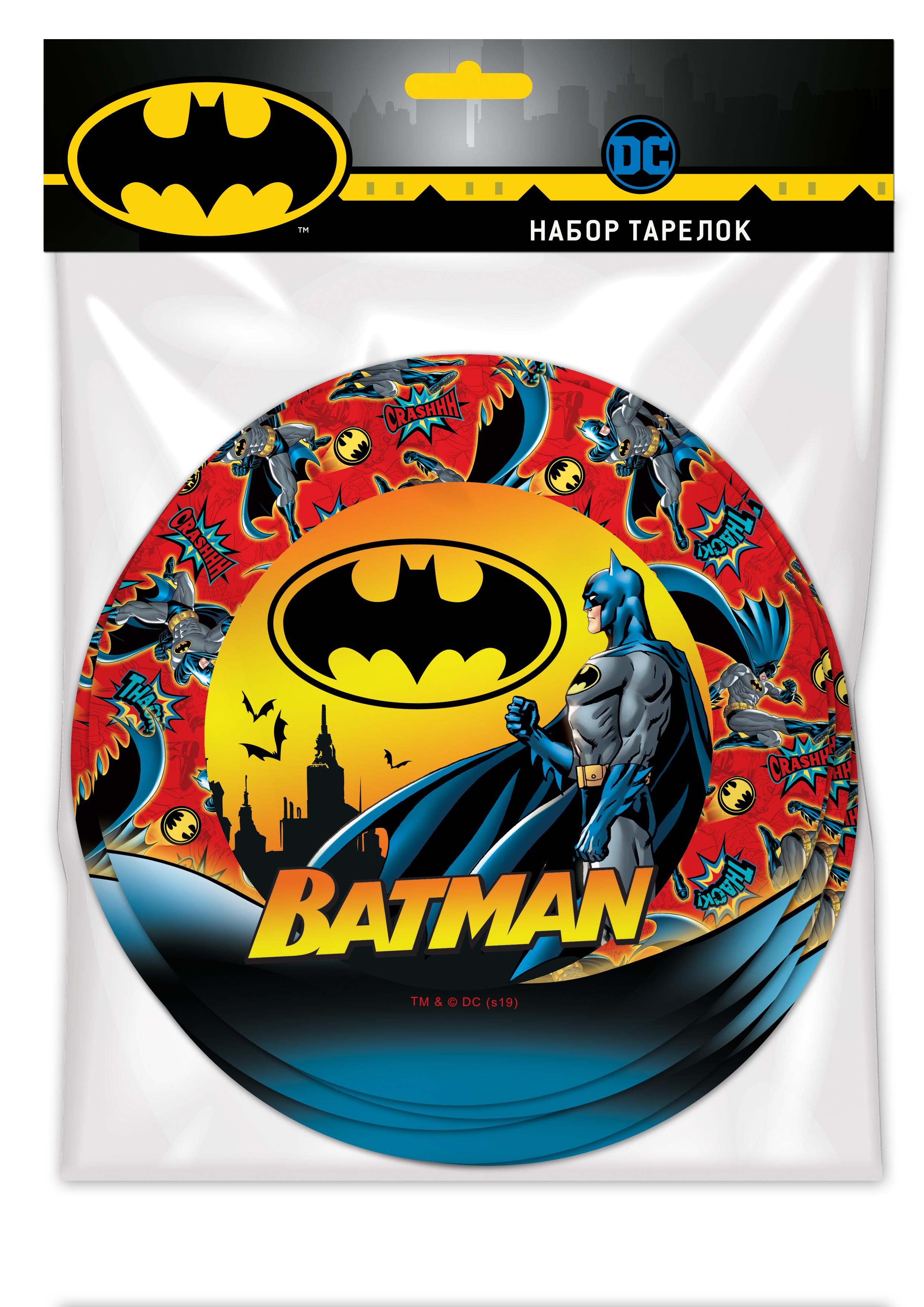 Набор бумажных тарелок ND Play Batman 6 штук фото