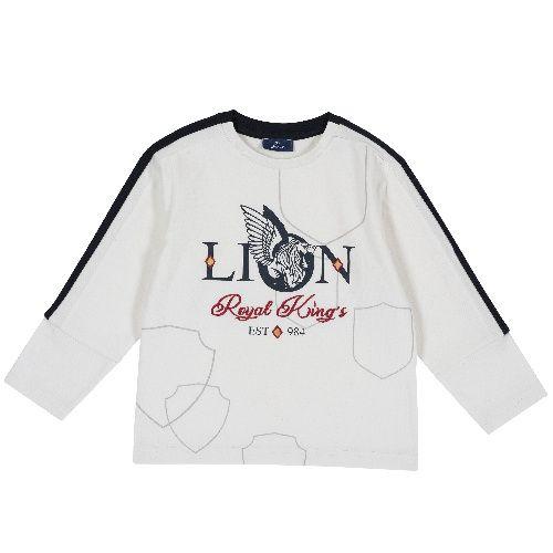 Купить 9006833, Лонгслив Chicco Lion для мальчиков р. 116 цв.белый,