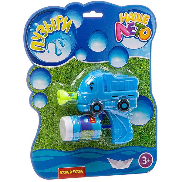 Купить Пистолет с мыльными пузырями Наше Лето. Грузовик , 50 мл, арт. 915, Bondibon, Мыльные пузыри