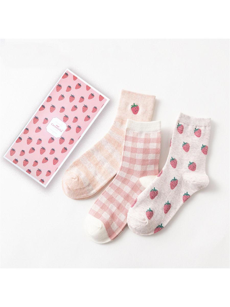 Подарочный набор носков женский Caramella C515283 розовый 34-39