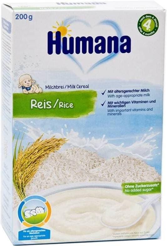 Каша молочная Humana Рис с 4 мес. 200 г фото