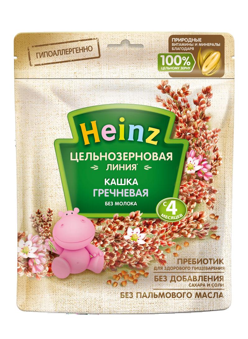 Каша безмолочная Heinz цельнозерновая гречневая, 4 мес., 7шт
