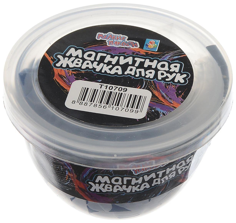 Жвачка для рук 1 toy с магнитом 4 цвета 50 грамм т10709