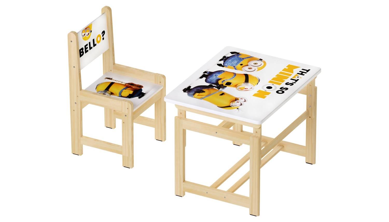 Комплект растущей детской мебели Polini kids Fun 400 SM Миньоны 68х55, желтый