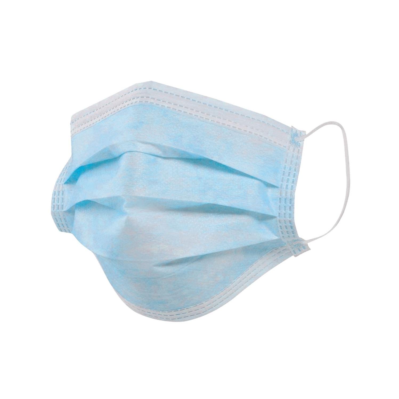 Маска медицинская Rutex стандарт ПЭ голубой 50 шт.