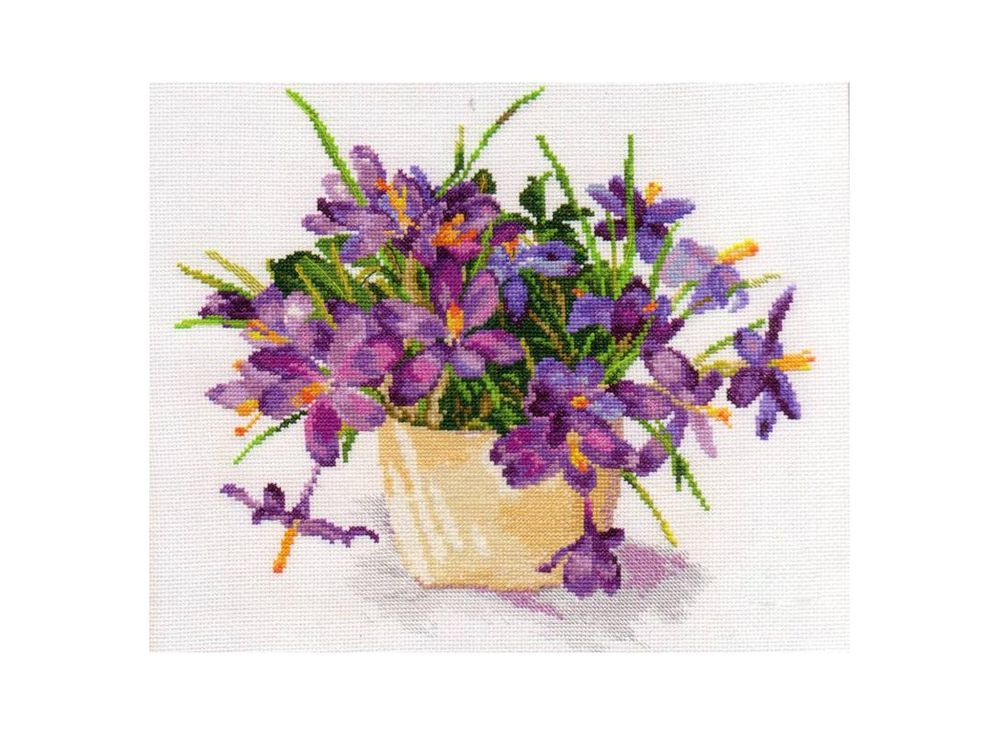 Набор для вышивания Алиса Цветущий сад: Крокусы арт.136127