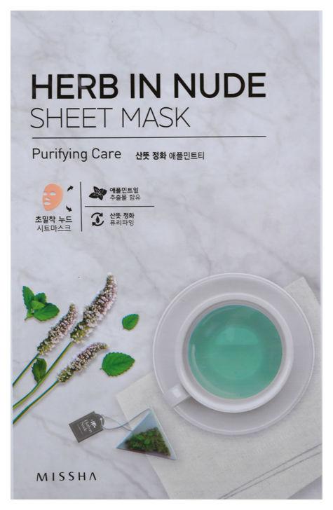 Маска для лица Missha Herb In Nude Sheet Mask Purifying Care 23 г