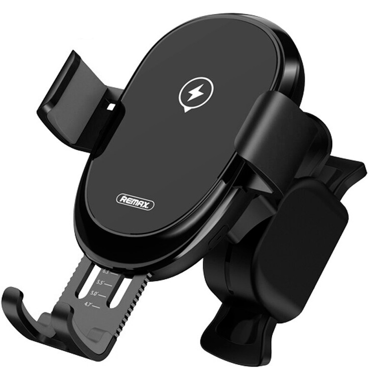Автомобильный держатель в дефлектор с беспроводной быстрой зарядкой Remax RM-C39 - Черный