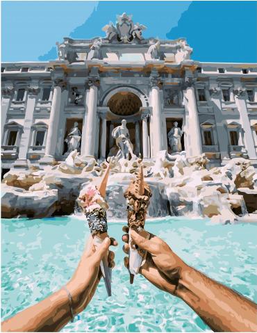 Картина по номерам Paintboy GX 31824 Итальянское мороженое 40*50