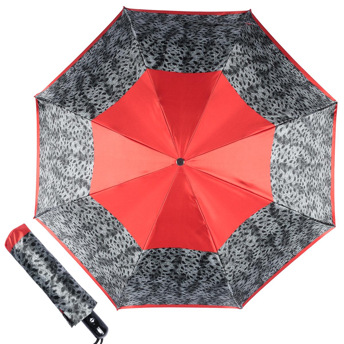 Зонт складной женский Baldinini 22-OC Tigratto Grey