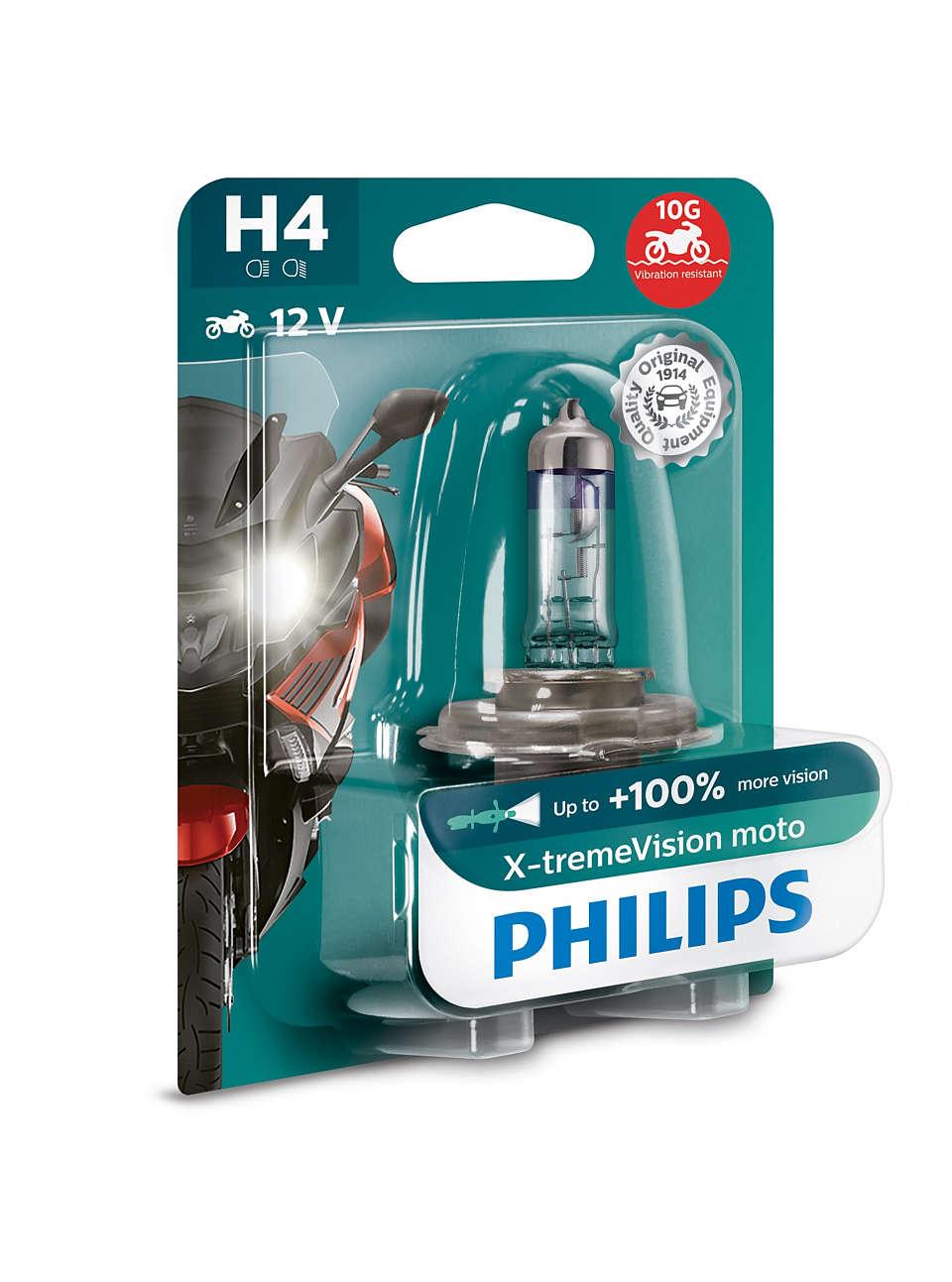 А/Лампа Philips H4 130% 12v 60/55w P43t-38 X-Treme Vision (1шт) Philips арт. 12342xvbw фото