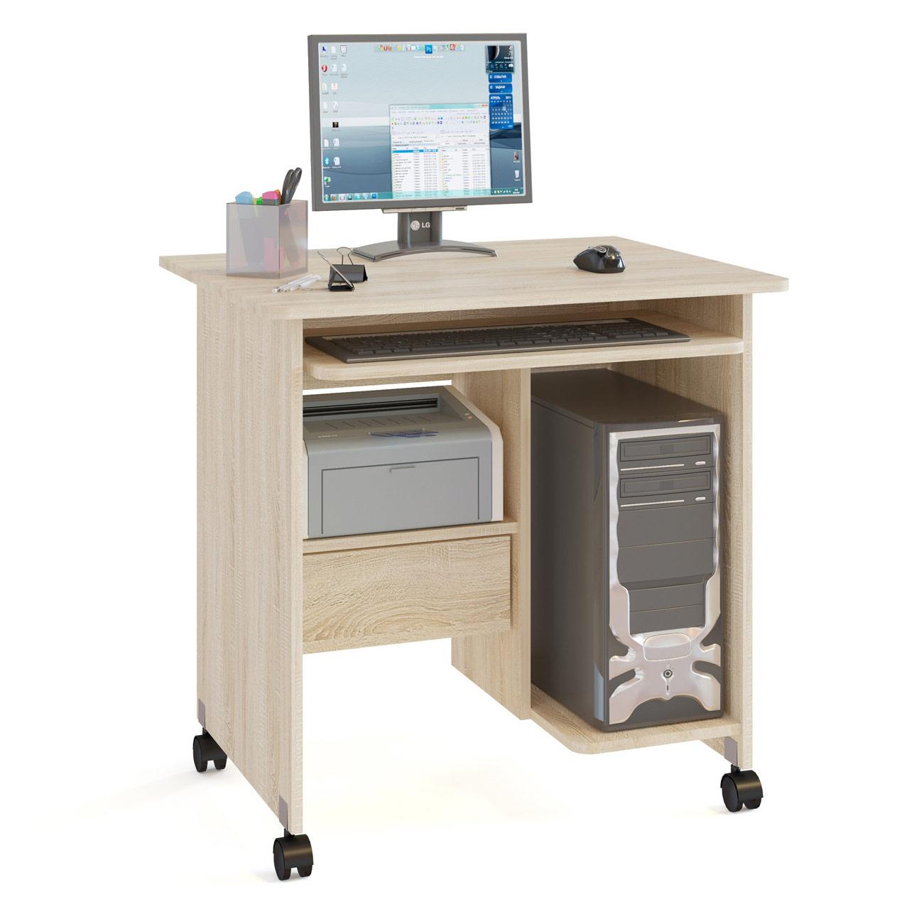 Компьютерный стол СОКОЛ КСТ-10.1 80x60x80, дуб сонома