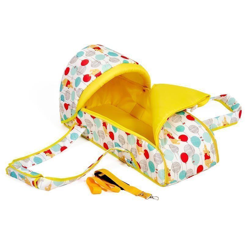 Переносная люлька-кокон Polini kids Disney baby Медвежонок Винни Чудесный день, желтый