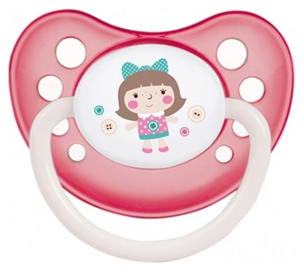 Пустышка силиконовая анатомическая Canpol Babies Toys 0-6 мес 23/259, Розовый