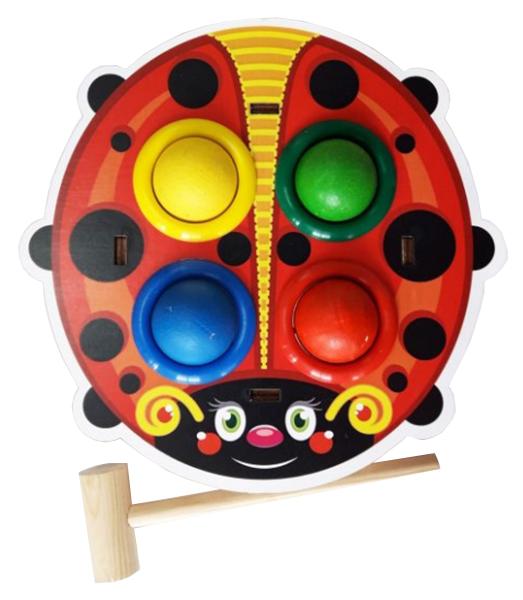 Купить Развивающая игрушка Woodland Стучалка цветная Божья коровка 115303,