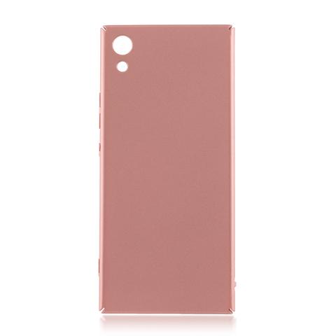 Четырёхсторонняя накладка Brosco Soft-touch для Sony Xperia XA1, розовая