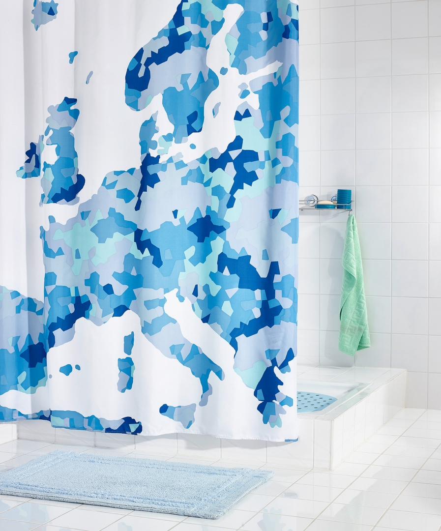 Штора для ванных комнат Europe синий 180Х200