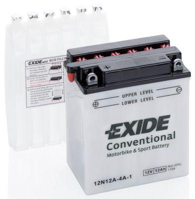 Аккумулятор автомобильный EXIDE 12N12A-4A-1 12 Ач