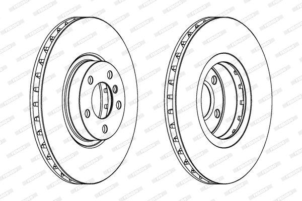 Тормозной диск FERODO DDF1713C 1