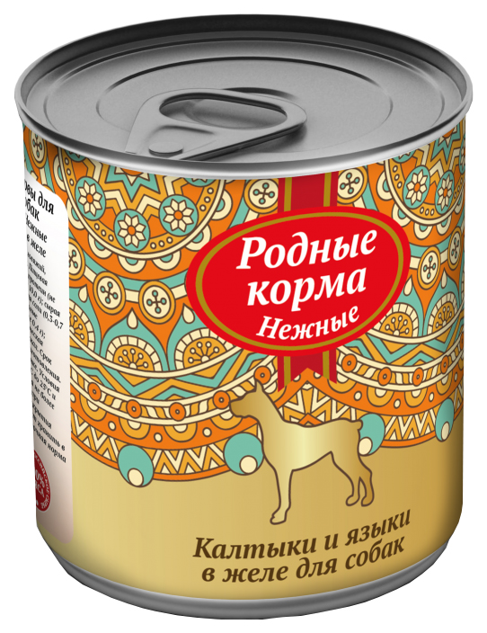 Консервы для собак Родные корма Нежные, калтыки и языки, 240г