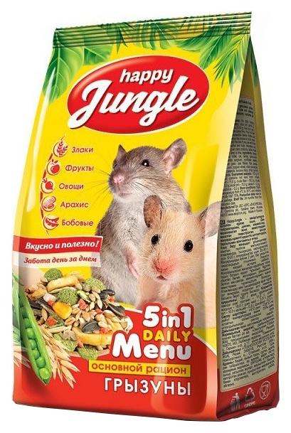 Корм для грызунов Happy Jungle витаминизированный 0.35