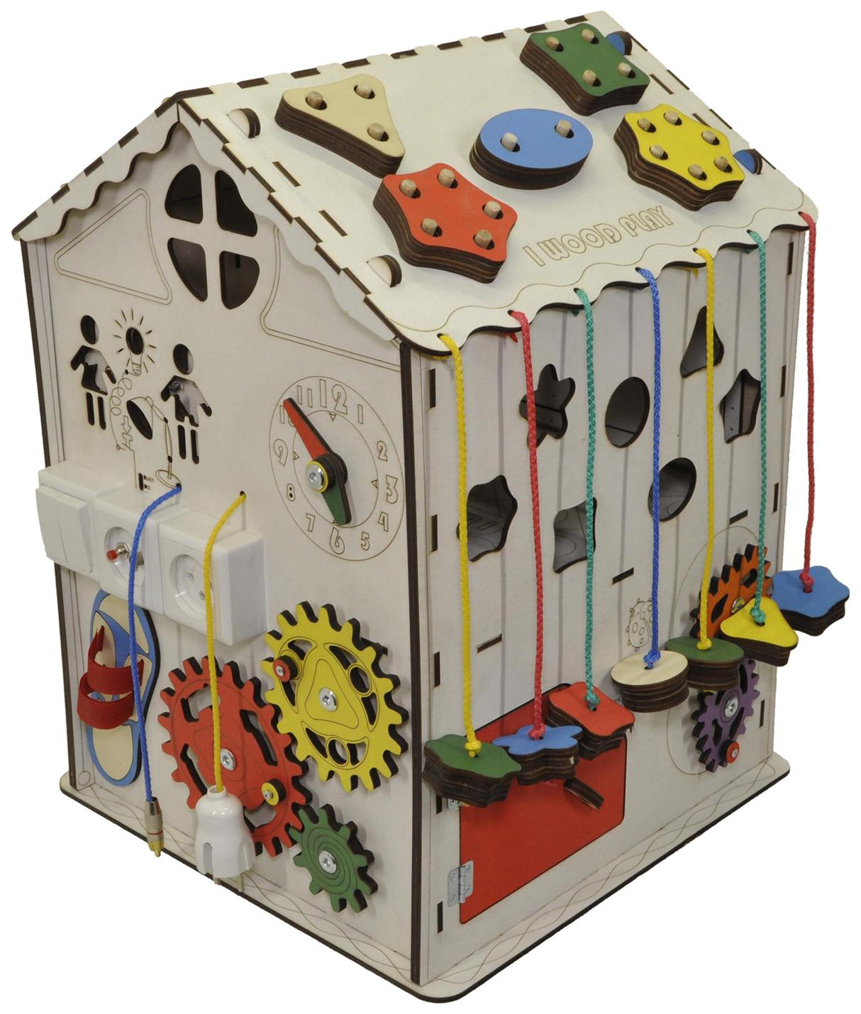 Купить Развивающий домик IWOODPLAY со светом Большой арт. igbd-01-01), Бизиборды