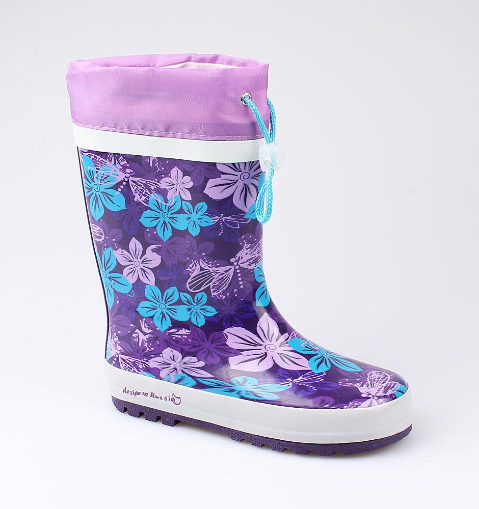 Резиновая обувь Котофей 566155-11 для девочек р.34