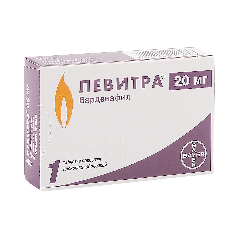 Левитра таблетки 20 мг 1 шт.